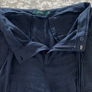 Lauren Ralph Lauren Pants & Jumpsuits - Lauren Ralph Lauren Navy Linen straight leg pants